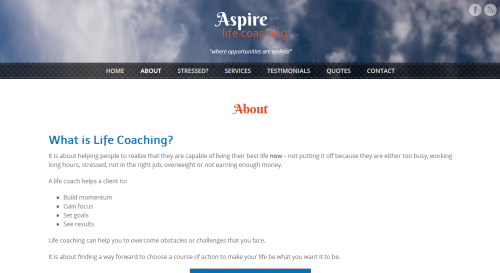 authentic quality shopping new cheap Aspire Life Coaching - JebWeb Solutions