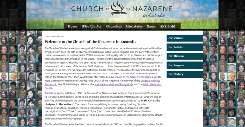 New Nazarene website design